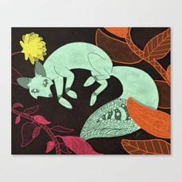 Turquoise Fox Canvas Print