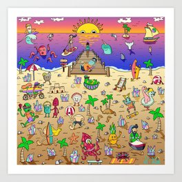 Danvillage Beach Life Art Print
