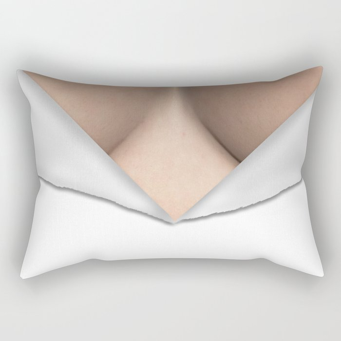 Torn Breast Cleavage Rectangular Pillow