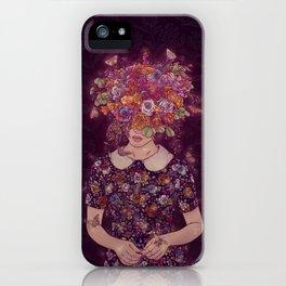 Shy Lady iPhone Case