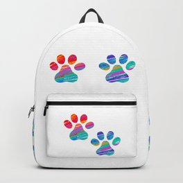 Two Cats Colorful Paws Backpack