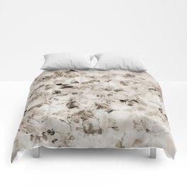 Vintage shabby elegant white gray roses floral Comforters