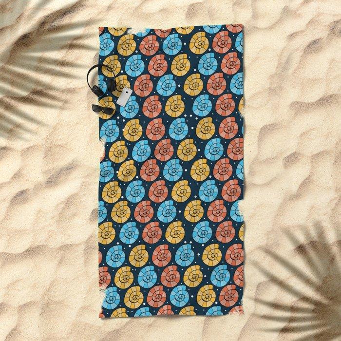 Colour Shells Pattern Beach Towel