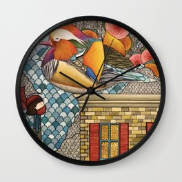 Rooftop Encounter Wall Clock