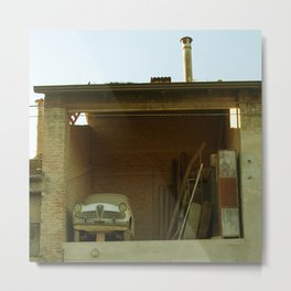 Car in the barn Metal Print