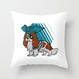Dog dressed as pirate Throw Pillow