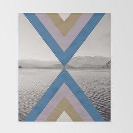 Boho Arrows of Lake Wanaka Throw Blanket