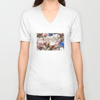 magnolia V-neck T-shirts featuring  Magnolia. by Assiyam