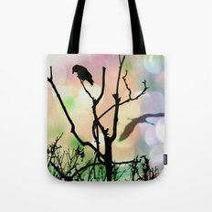 The Lonely Crow At Sunset Tote Bag