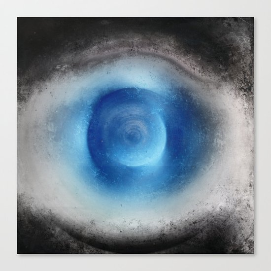 Blue Eye Abstract Canvas Print