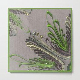 Quilling Flower Linen texture 3D Metal Print