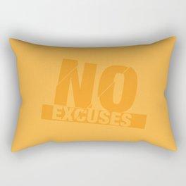 No Excuses - Gold Rectangular Pillow