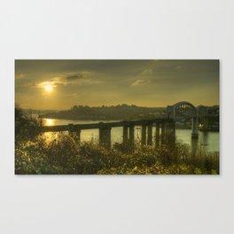 Brunel Bridge Sunset Canvas Print