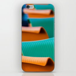 Blue Green and Orange Abstract iPhone Skin