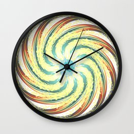 Last day of that iced planet Wall Clock