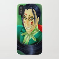 kuroshitsuji iPhone & iPod Cases featuring Butler Grell Colour Challenge by Falln