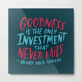 Goodness Never Fails, Part II Metal Print