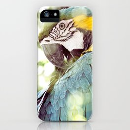 Magical Parrot - Guacamaya Variopinta - Magical Realism iPhone Case