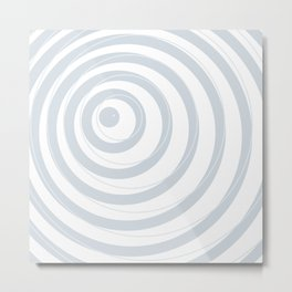 orbits - circle pattern in ice gray and white Metal Print