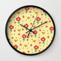 pixel Wall Clocks featuring Pixel by Kakel