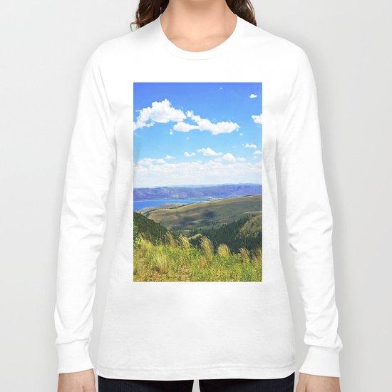 Bear Lake Blue Long Sleeve T-shirt