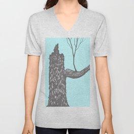 Nut Tree Illustration Unisex V-Neck