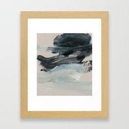 minimal brushstrokes 3 Framed Art Print