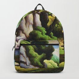 Classical Masterpiece 'Cave Spring' by Thomas Hart Benton Backpack