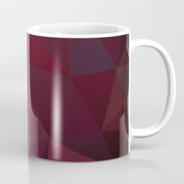 Abstract background of triangles polygon design red marsala colors Coffee Mug