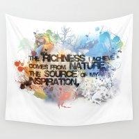 underwater Wall Tapestries featuring Underwater by Allison Reich