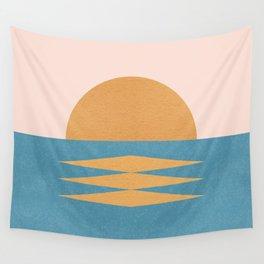 Sunrise Geometric - Midcentury Style Wall Tapestry