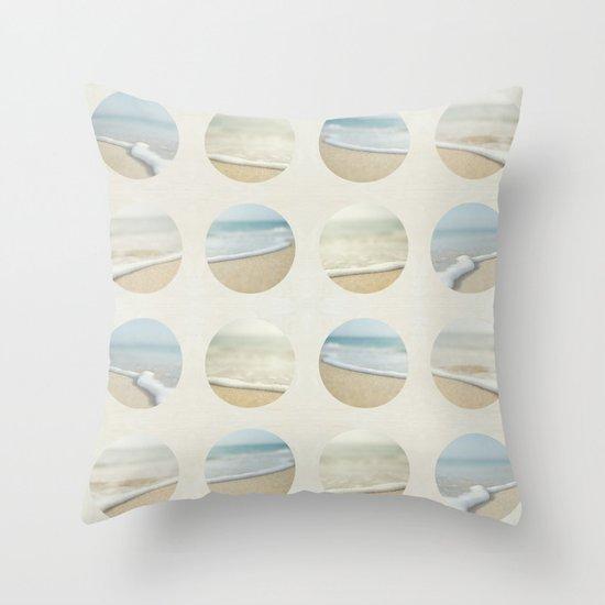 Beach Print Throw Pillow