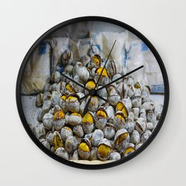 Roasted chestnuts Wall Clock