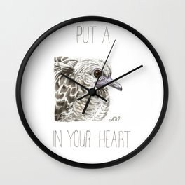 Put A Little Dove In Your Heart (Fledgling Morning Dove) Wall Clock