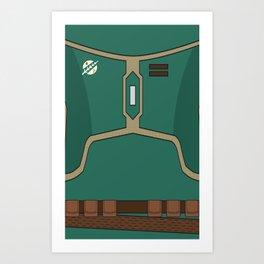 Star Wars Boba Fett Vector Chest Art Print