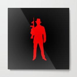 mafia silhouette Metal Print