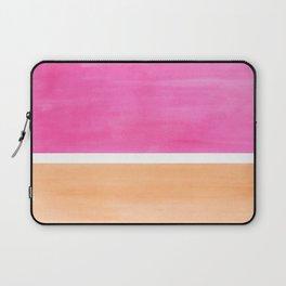 Colorful Bright Minimalist Rothko Pastel Pink Peach Midcentury Modern Art Vintage Pop Art Laptop Sleeve