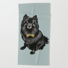 Ozzy the Pomeranian Mix Beach Towel