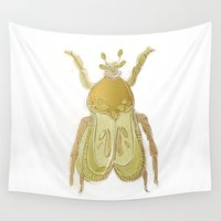 bug Wall Tapestries featuring bug by Very Sarie