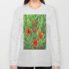 Summer Poppy Long Sleeve T-shirt