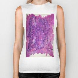 Deep Purple Abstract Aspen Tree Watercolor Painting Biker Tank