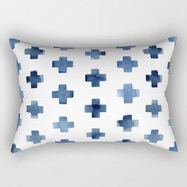 Crosses Scandinavian Pattern Rectangular Pillow
