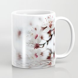 white cherry blossom and water reflection Coffee Mug
