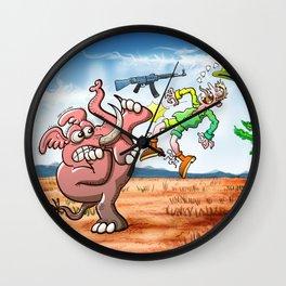 Hunter's Teeth instead of Elephant's Tusks Wall Clock