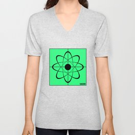 Science Research atomic physics proton gift Unisex V-Neck
