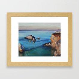 Highway 1 California Coast Plein Air Oil Painting Framed Art Print
