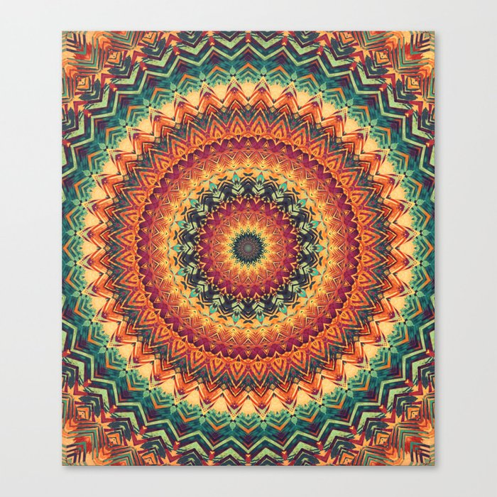 Mandala 254 Canvas Print