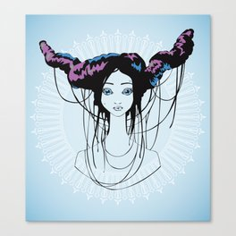 Gum in my hair Canvas Print