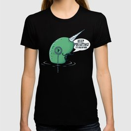Evil Narwhal Favors Global Warming T-shirt