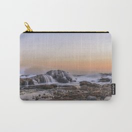 Waves on the rocks at the Backshore Carry-All Pouch